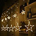 0時から【タイムセール】 星型 led イルミネーションライト 138球 2.5M 12個星 屋外 防水 ガーデンパーティー クリスマスツリー 飾りライトが激安特価!