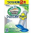 【プライムだけ】スクラビングバブル トイレ洗浄 トイレスタンプクリーナー 漂白プラス ホワイティーウッドの香り 付替用2本セット 38g×2本が激安特価!