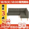 【12時】不二貿易 LDソファーセット レノール BR 96955 実質10040円 送料実質無料