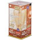 【さらに50%OFF!】アイリスオーヤマ LED電球 フィラメント 口金直径26mm 40W形相当 キャンドル色 全配光タイプ ST形 レトロ風琥珀調ガラス製 LDF4C-G-FKが激安特価!