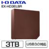 【13時頃】I-O DATA テレビ&PC両対応 3.0TB USB3.0外付ハードディスク EX-HD3ELBR 送料込7780円